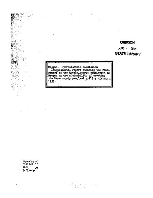 This archived document is maintained by the Oregon State Library as part of the Oregon Documents Depository Program.  It is for informational purposes and may not be suitable for legal purposes., Typescript (mimeographed copy), Mode of access: Internet from the Oregon Government Publications Collection.