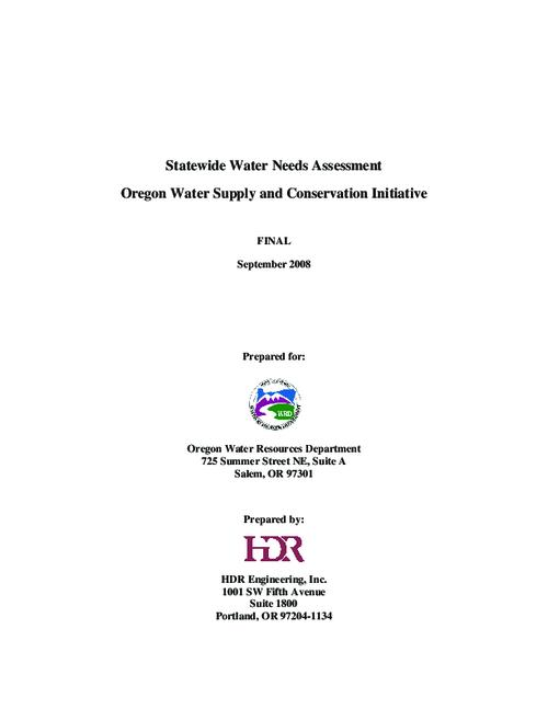 "This archived document is maintained by the Oregon State Library as part of the Oregon Documents Depository Program.  It is for informational purposes and may not be suitable for legal purposes., Title from PDF title page (viewed on Dec. 28, 2012), ""Final, September 2008."", Includes bibliographical references (p. 81-82), Mode of access: Internet from the Oregon Government Publications Collection."