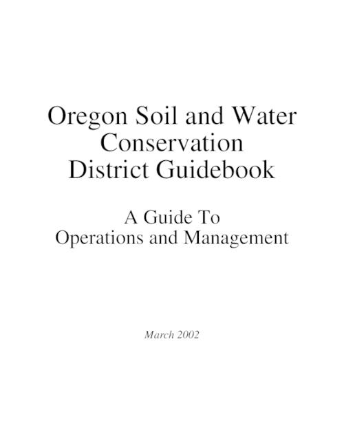 "This archived document is maintained by the Oregon State Library as part of the Oregon Documents Depository Program.  It is for informational purposes and may not be suitable for legal purposes., Title from PDF cover (viewed on December 6, 2013), ""This Guidebook was developed as a collaborative effort of the Oregon Department of Agriculture (ODA) and the Oregon Association of Conservation Districts (OACD)""--Page 10, Mode of access: Internet from the Oregon Government Publications Collection."