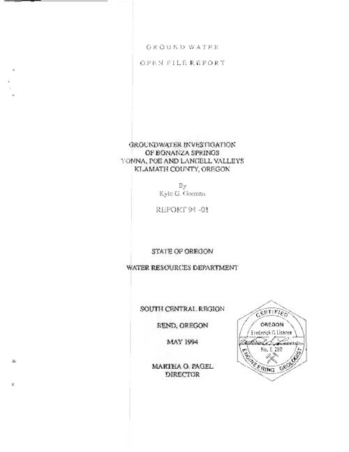 This archived document is maintained by the Oregon State Library as part of the Oregon Documents Depository Program.  It is for informational purposes and may not be suitable for legal purposes., Title from PDF cover (viewed on September 29, 2015)., Includes bibliographical references (pages 48-49)., Mode of access: Internet from the Oregon Government Publications Collection., Text in English.