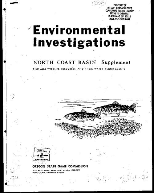 "This archived document is maintained by the Oregon State Library as part of the Oregon Documents Depository Program.  It is for informational purposes and may not be suitable for legal purposes., ""Federal aid to fish restoration completion report, Fisheries stream flow requirements, Project 69409, Job Number 14."", ""January 1972."", Bibliography: p. 18, Mode of access: Internet from the Oregon Government Publications Collection."