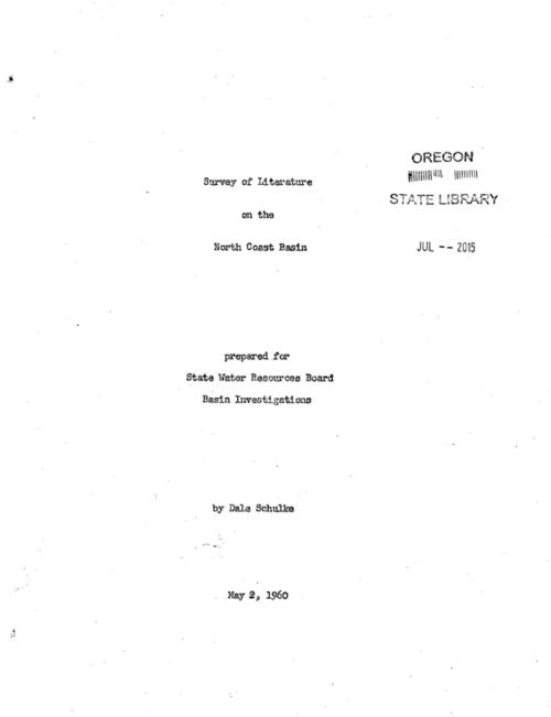 This archived document is maintained by the Oregon State Library as part of the Oregon Documents Depository Program.  It is for informational purposes and may not be suitable for legal purposes., Title from cover., Mimeograph., Each information source listed is accompanied by a summary or outline., Region covered includes Tillamook, Clatsop and portions of Columbia, Washington, Yamhill and Polk counties., Mode of access: Internet from the Oregon Government Publications Collection., Text in English.