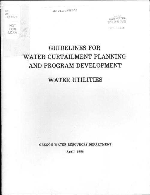 "This archived document is maintained by the Oregon State Library as part of the Oregon Documents Depository Program.  It is for informational purposes and may not be suitable for legal purposes., ""April 1988."", Title from cover, Mode of access: Internet from the Oregon Government Publications Collection."