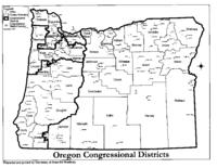 Oregon congressional districts, District map