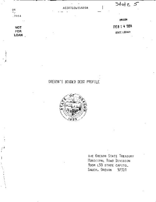 "This archived document is maintained by the Oregon State Library as part of the Oregon Documents Depository Program.  It is for informational purposes and may not be suitable for legal purposes., ""July 1, 1980""--Leaf [i], Title from cover, Mode of access: Internet from the Oregon Government Publications Collection."
