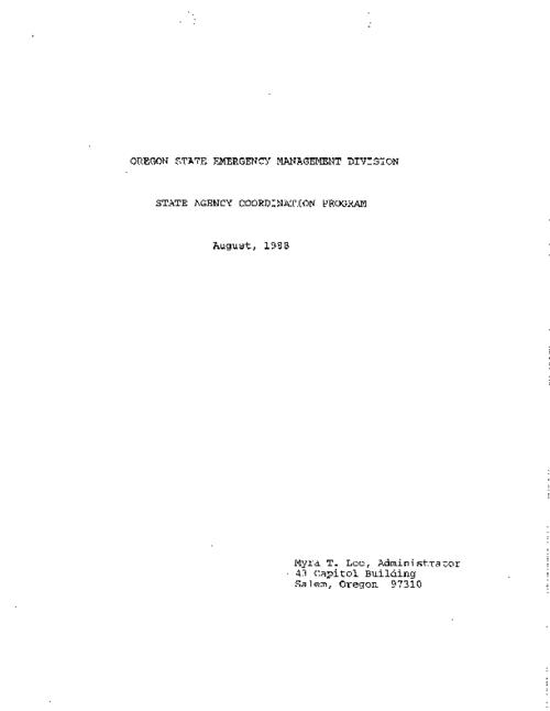 "This archived document is maintained by the Oregon State Library as part of the Oregon Documents Depository Program.  It is for informational purposes and may not be suitable for legal purposes., ""August, 1988."", Title from PDF caption (viewed on Jan. 10, 2011), Mode of access: Internet from the Oregon Government Publications Collection."
