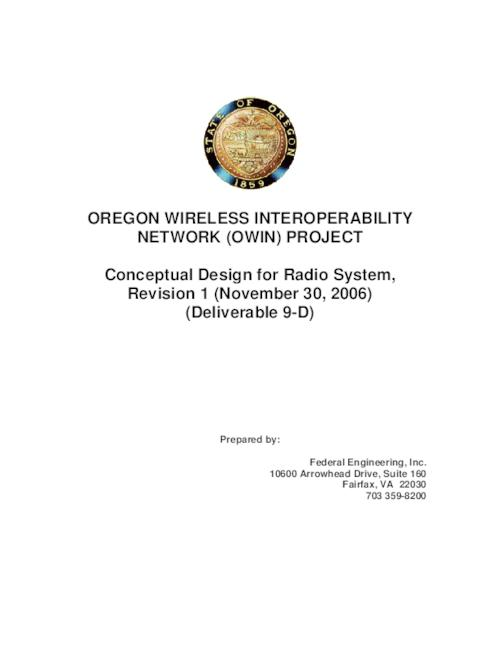 "This archived document is maintained by the Oregon State Library as part of the Oregon Documents Depository Program.  It is for informational purposes and may not be suitable for legal purposes., Title from PDF title page (viewed on Jan. 10, 2011), ""November 30, 2006""--Running footer, Mode of access: Internet from the Oregon Government Publications Collection."