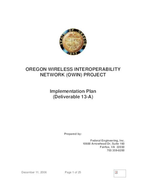This archived document is maintained by the Oregon State Library as part of the Oregon Documents Depository Program.  It is for informational purposes and may not be suitable for legal purposes., Title from PDF cover (viewed on September 23, 2014), Mode of access: Internet from the Oregon Government Publications Collection., Text in English