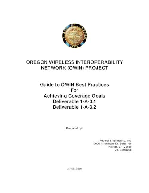 "This archived document is maintained by the Oregon State Library as part of the Oregon Documents Depository Program.  It is for informational purposes and may not be suitable for legal purposes., Title from PDF title page (viewed on Nov. 23, 2010), ""July 25, 2008, Mode of access: Internet from the Oregon Government Publications Collection."