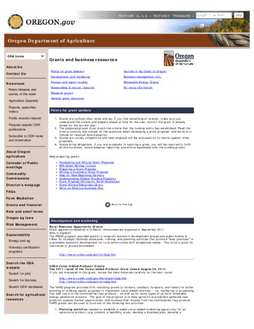 This archived document is maintained by the Oregon State Library as part of the Oregon Documents Depository Program.  It is for informational purposes and may not be suitable for legal purposes., Title from PDF caption (viewed on Nov. 2, 2012), Converted from HTML, Mode of access: Internet from the Oregon Government Publications Collection.