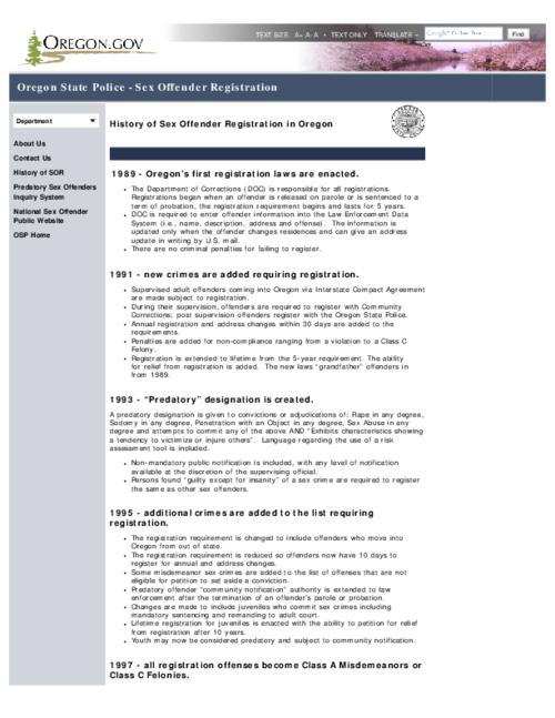 This archived document is maintained by the Oregon State Library as part of the Oregon Documents Depository Program.  It is for informational purposes and may not be suitable for legal purposes., Title from PDF caption (viewed on June 17, 2015)., Converted from HTML., Mode of access: Internet from the Oregon Government Publications Collection., Text in English.
