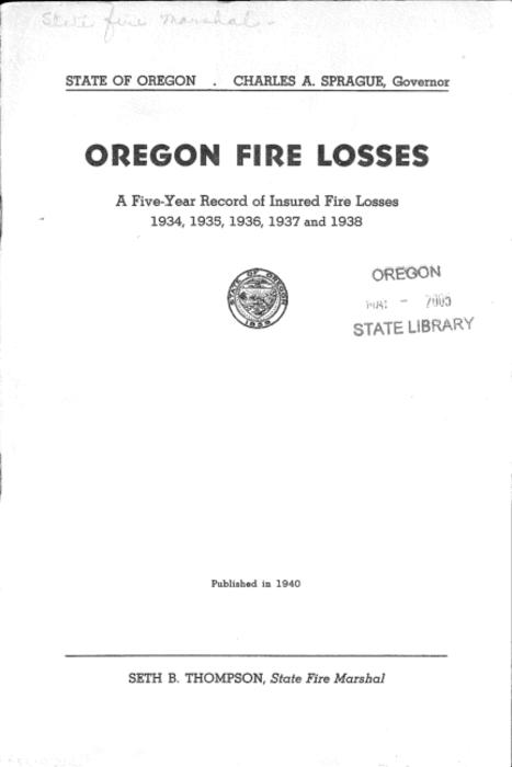 This archived document is maintained by the Oregon State Library as part of the Oregon Documents Depository Program.  It is for informational purposes and may not be suitable for legal purposes., Title from cover., Mode of access: Internet from the Oregon Government Publications Collection., Text in English.