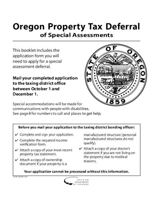 "This archived document is maintained by the Oregon State Library as part of the Oregon Documents Depository Program.  It is for informational purposes and may not be suitable for legal purposes., Title from PDF caption (viewed on Oct. 1, 2008), ""150-491-646 (Rev. 9-07)""--P. [1], ""150-491-001 (Rev. 9-07)""--P. [11-12], Mode of access: Internet from the Oregon Government Publications Collection."