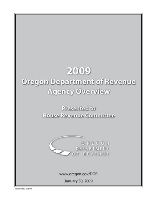 "This archived document is maintained by the Oregon State Library as part of the Oregon Documents Depository Program.  It is for informational purposes and may not be suitable for legal purposes., OrDocs shipping list 2009-15, Title from cover, ""January 30, 2009."", ""150-800-552-1 (1-09)""--Cover, ""150-800-550-1 (1-09)""--Running footer, Mode of access: Internet from the Oregon Government Publications Collection."