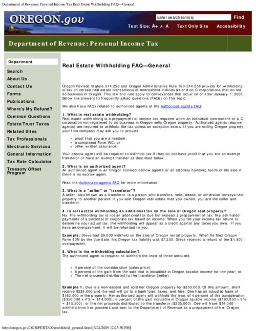 "This archived document is maintained by the Oregon State Library as part of the Oregon Documents Depository Program.  It is for informational purposes and may not be suitable for legal purposes., Title from PDF caption (viewed on Mar. 22, 2012), Converted from HTML, ""Page updated: January 13, 2009""--P. [3], Mode of access: Internet from the Oregon Government Publications Collection."