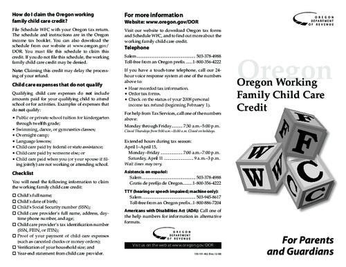 "This archived document is maintained by the Oregon State Library as part of the Oregon Documents Depository Program.  It is for informational purposes and may not be suitable for legal purposes., Title from PDF title page (viewed on Apr. 23, 2009), ""150-101-462 (Rev. 12/08)."", Mode of access: Internet from the Oregon Government Publications Collection."