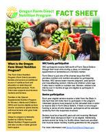 ... Oregon Farm Direct Nutrition Program fact sheet