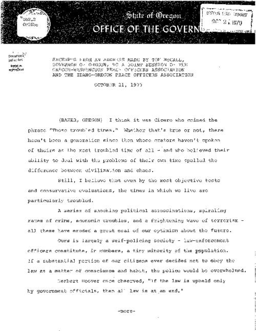 This archived document is maintained by the Oregon State Library as part of the Oregon Documents Depository Program.  It is for informational purposes and may not be suitable for legal purposes., Title from caption, Mode of access: Internet from the Oregon Government Publications Collection., Text in English