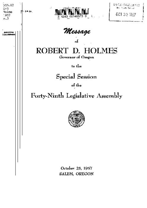 This archived document is maintained by the Oregon State Library as part of the Oregon Documents Depository Program.  It is for informational purposes and may not be suitable for legal purposes., Title from cover, Mode of access: Internet from the Oregon Government Publications Collection., Text in English