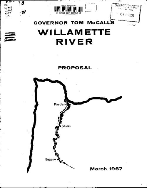 "This archived document is maintained by the Oregon State Library as part of the Oregon Documents Depository Program.  It is for informational purposes and may not be suitable for legal purposes., Cover title, ""March 1967."", ""Governor's message on the Willamette River Greenway, March 1, 1967, to ... the fifty-fourth Legislative Assembly...""--P. [1], Mode of access: Internet from the Oregon Government Publications Collection."