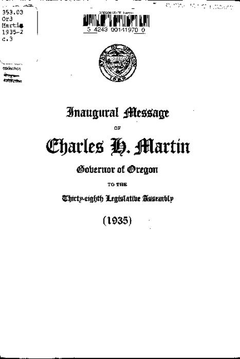This archived document is maintained by the Oregon State Library as part of the Oregon Documents Depository Program.  It is for informational purposes and may not be suitable for legal purposes., Cover title, Mode of access: Internet from the Oregon Government Publications Collection., Text in English