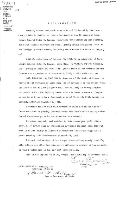 This archived document is maintained by the Oregon State Library as part of the Oregon Documents Depository Program.  It is for informational purposes and may not be suitable for legal purposes., Caption title, Mimeographed, Mode of access: Internet from the Oregon Government Publications Collection., Text in English