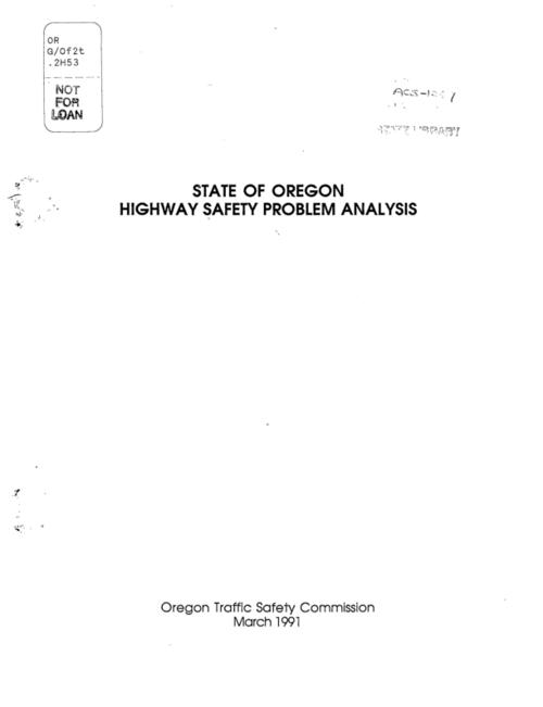 "This archived document is maintained by the Oregon State Library as part of the Oregon Documents Depository Program.  It is for informational purposes and may not be suitable for legal purposes., ""March 1991."", Title from cover, Mode of access: Internet from the Oregon Government Publications Collection."