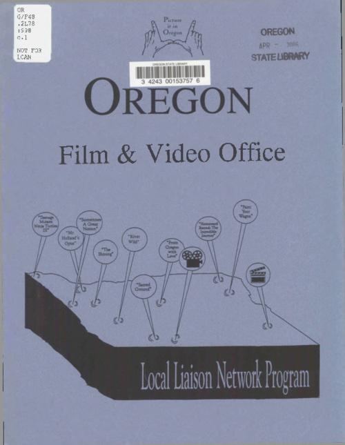 This archived document is maintained by the Oregon State Library as part of the Oregon Documents Depository Program.  It is for informational purposes and may not be suitable for legal purposes., Title from cover., The Oregon Film & Video Office changed its name to the Governor's Office of Film & Television in 2008., Mode of access: Internet from the Oregon Government Publications Collection., Text in English.