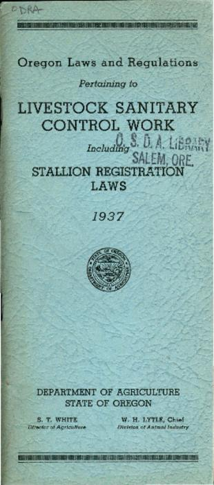 This archived document is maintained by the Oregon State Library as part of the Oregon Documents Depository Program.  It is for informational purposes and may not be suitable for legal purposes., Includes index., Mode of access: Internet from the Oregon Government Publications Collection., Text in English.