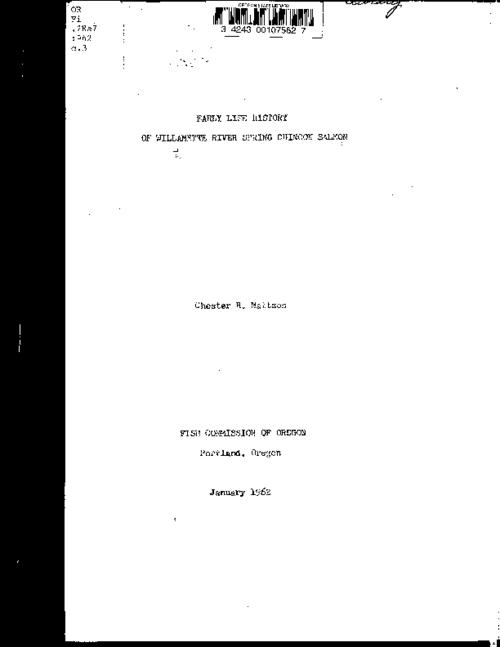 "This archived document is maintained by the Oregon State Library as part of the Oregon Documents Depository Program.  It is for informational purposes and may not be suitable for legal purposes., ""January 1962."", Includes bibliographical references (leaf 50), Mode of access: Internet from the Oregon Government Publications Collection."