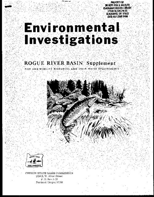 "This archived document is maintained by the Oregon State Library as part of the Oregon Documents Depository Program.  It is for informational purposes and may not be suitable for legal purposes., ""April 1972."", ""Federal aid to fish restoration completion report, Fisheries stream flow requirements, Project 69409, Job Number 8, Supplement to Project F-69-R-7, Job Number 7."", Bibliography: p. 13, Mode of access: Internet from the Oregon Government Publications Collection."