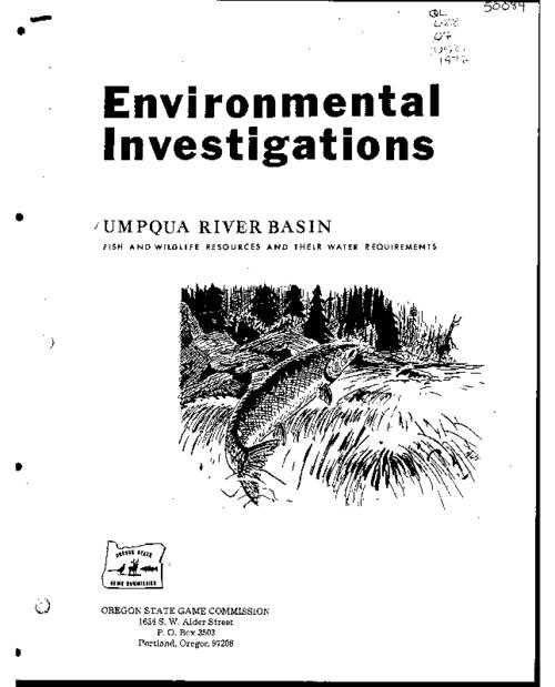 This archived document is maintained by the Oregon State Library as part of the Oregon Documents Depository Program.  It is for informational purposes and may not be suitable for legal purposes., Federal Aid to Fish Restoration, completion report, Fisheries stream flow requirements, project F-69-R-6, job no. 6, Report to the Oregon State Water Resources Board, Bibliography: p. 69-70, Mode of access: Internet from the Oregon Government Publications Collection.