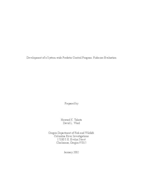 "This archived document is maintained by the Oregon State Library as part of the Oregon Documents Depository Program.  It is for informational purposes and may not be suitable for legal purposes., Title from PDF title page (viewed on May 3, 2006), ""January 2002."", Includes bibliographical references (p. 23-24), Mode of access: Internet from the Oregon Government Publications Collection."
