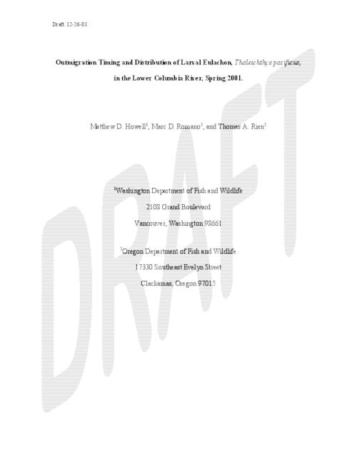 "This archived document is maintained by the Oregon State Library as part of the Oregon Documents Depository Program.  It is for informational purposes and may not be suitable for legal purposes., Title from PDF cover (viewed on May 10, 2006), ""Draft 12-26-01."", Includes bibliographical references (p. 16-17), Mode of access: Internet from the Oregon Government Publications Collection."