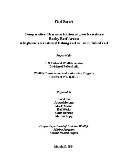 "This archived document is maintained by the Oregon State Library as part of the Oregon Documents Depository Program.  It is for informational purposes and may not be suitable for legal purposes., Title from PDF title page (viewed on Apr. 8, 2009), ""March 29, 2004."", Includes bibliographical references (p. 64-66), R-01-1, Mode of access: Internet from the Oregon Government Publications Collection."