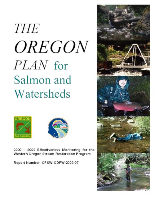 "This archived document is maintained by the Oregon State Library as part of the Oregon Documents Depository Program.  It is for informational purposes and may not be suitable for legal purposes., ""January 14, 2004."", ""Aquatic Inventories Project."", OrDocs shipping list 2004-07, Includes bibliographical references (p. [17-19]), Mode of access: Internet from the Oregon Government Publications Collection."