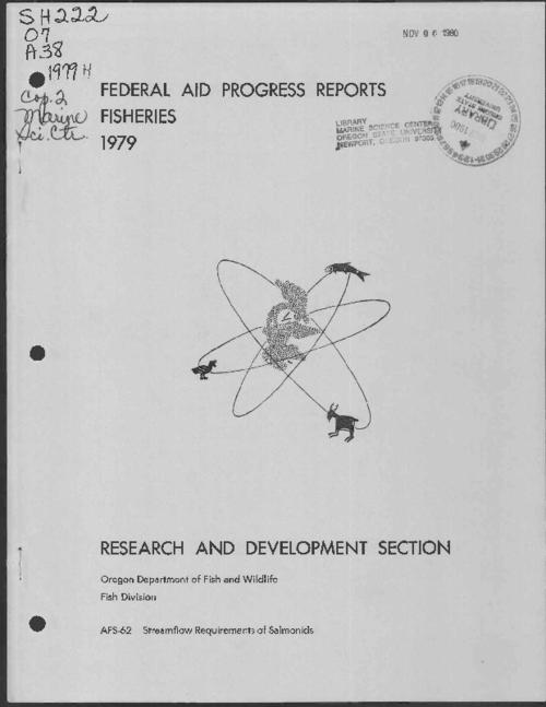 "This archived document is maintained by the Oregon State Library as part of the Oregon Documents Depository Program.  It is for informational purposes and may not be suitable for legal purposes., ""Contract number: 14-16-0001-78-525."", ""Project number: AFS-62."", ""Project period: July 1, 1971 to June 30, 1979."", At head of title: Final report, Fish Research Project, Oregon, Bibliography: p. 27-28, Mode of access: Internet from the Oregon Government Publications Collection."