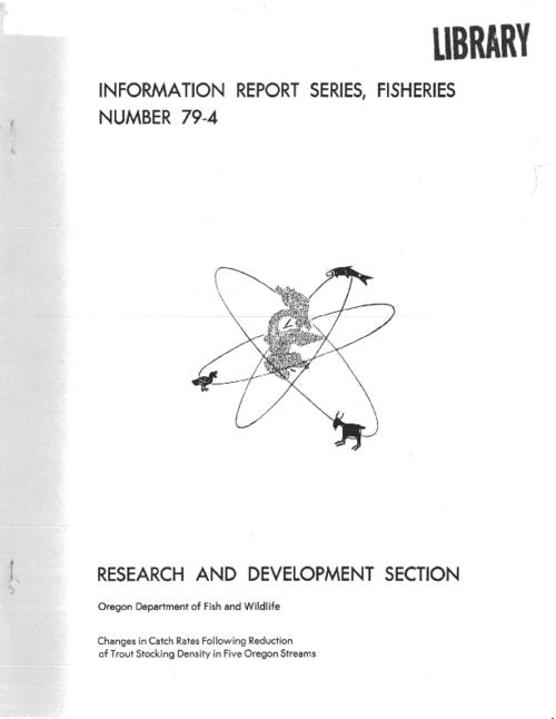 "This archived document is maintained by the Oregon State Library as part of the Oregon Documents Depository Program.  It is for informational purposes and may not be suitable for legal purposes., ""August 1979."", "" ... financed in part with Federal Aid in Fish Restoration Act (Dingell-Johnson) funds through the U.S. Fish and Wildlife Service."", Includes bibliographical references (p. 9), Mode of access: Internet from the Oregon Government Publications Collection."