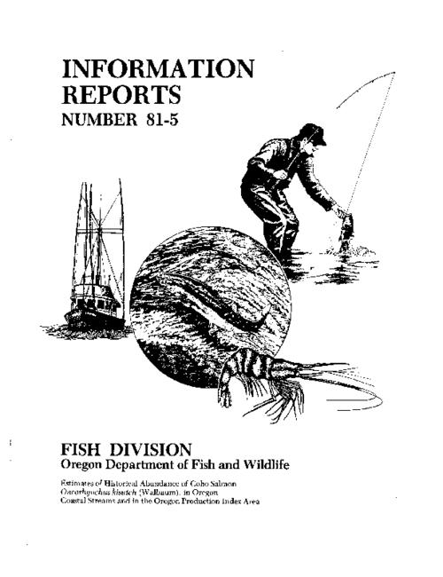 "This archived document is maintained by the Oregon State Library as part of the Oregon Documents Depository Program.  It is for informational purposes and may not be suitable for legal purposes., ""July 1981."", On cover: Fish Division, Oregon Department of Fish and Wildlife, Bibliography: leaf 9, Mode of access: Internet from the Oregon Government Publications Collection."
