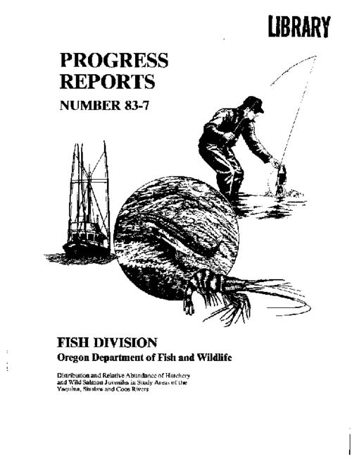 "This archived document is maintained by the Oregon State Library as part of the Oregon Documents Depository Program.  It is for informational purposes and may not be suitable for legal purposes., ""October 1983."", ""Oregon Department of Fish and Wildlife, Research and Development Section."", Bibliography: p. 10, Mode of access: Internet from the Oregon Government Publications Collection."