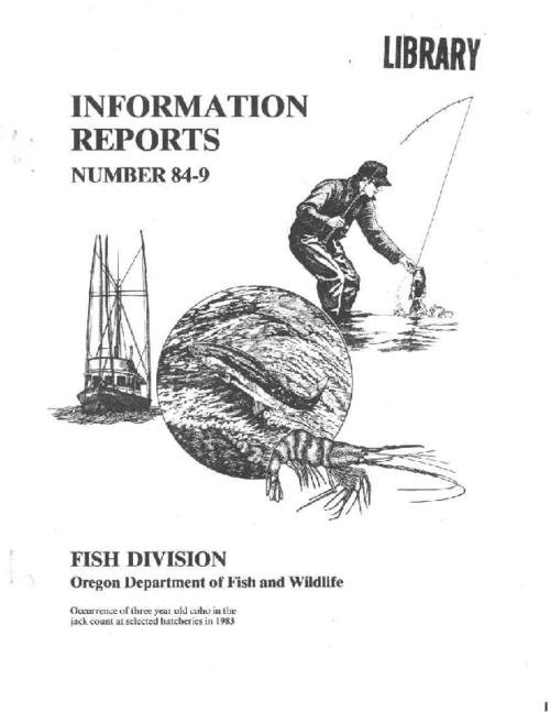 "This archived document is maintained by the Oregon State Library as part of the Oregon Documents Depository Program.  It is for informational purposes and may not be suitable for legal purposes., ""August 1984."", ""Oregon Department of Fish and Wildlife, Research and Development Section."", Bibliography: leaf 6, Mode of access: Internet from the Oregon Government Publications Collection."