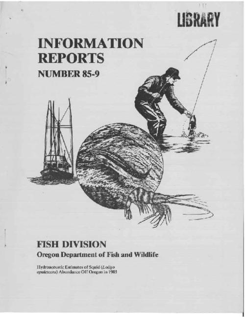 "This archived document is maintained by the Oregon State Library as part of the Oregon Documents Depository Program.  It is for informational purposes and may not be suitable for legal purposes., ""December 1985."", ""Oregon Department of Fish and Wildlife, Marine Region, Newport, Or."", Bibliography: p. 39-41, Mode of access: Internet from the Oregon Government Publications Collection."