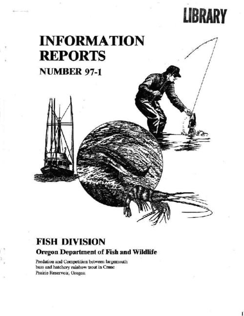 "This archived document is maintained by the Oregon State Library as part of the Oregon Documents Depository Program.  It is for informational purposes and may not be suitable for legal purposes., ""February 1997."", ""This work was conducted with matching state and federal funds, BOR contract number 1425-4-FG-10-00880."", Includes bibliographical references (p. 19-22), Mode of access: Internet from the Oregon Government Publications Collection."