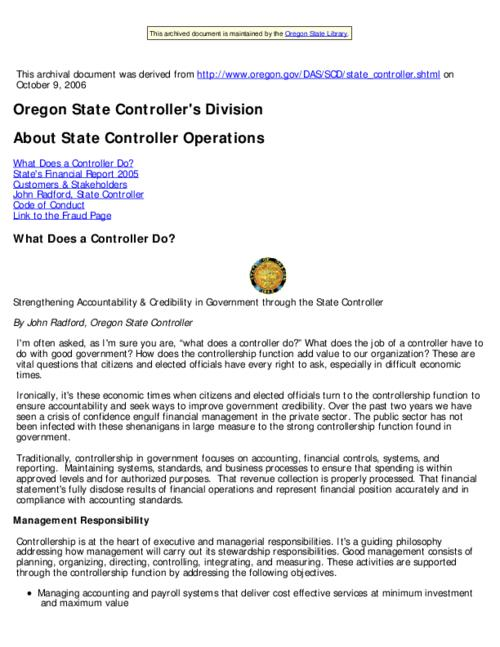"This archived document is maintained by the Oregon State Library as part of the Oregon Documents Depository Program.  It is for informational purposes and may not be suitable for legal purposes., Title from Web page (viewed on Nov. 29, 2006), ""Last modified: 2006-11-28"" -- File metadata, Mode of access: Internet from the Oregon Government Publications Collection."