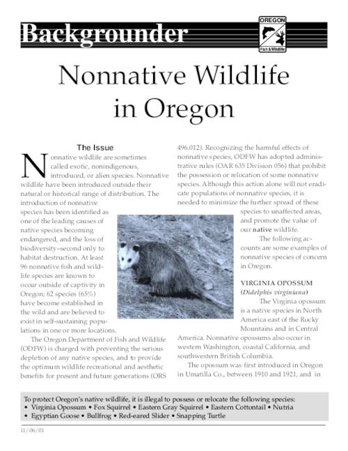 "This archived document is maintained by the Oregon State Library as part of the Oregon Documents Depository Program.  It is for informational purposes and may not be suitable for legal purposes., Title from caption, ""11/06/01."", Mode of access: Internet from the Oregon Government Publications Collection."