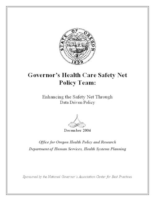 "This archived document is maintained by the Oregon State Library as part of the Oregon Documents Depository Program.  It is for informational purposes and may not be suitable for legal purposes., Title from cover, ""December 2004."", ""Sponsored by the National Governor's Association Center for Best Practices."", OrDocs shipping list 2005-03, Mode of access: Internet from the Oregon Government Publications Collection."