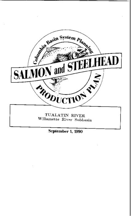 "This archived document is maintained by the Oregon State Library as part of the Oregon Documents Depository Program.  It is for informational purposes and may not be suitable for legal purposes., ""Funds provided by the Northwest Power Planning Council and the Agencies and Indian tribes of the Columbia Basin Fish & Wildlife Authority."", ""September 1, 1990."", ""These reports are final salmon and steelhead production plans for subbasins in the Columbia River Basin""--Cover letter, Includes bibliographical references (p. 69-71), Mode of access: Internet from the Oregon Government Publications Collection."