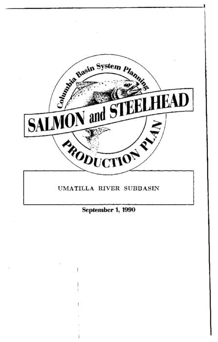 "This archived document is maintained by the Oregon State Library as part of the Oregon Documents Depository Program.  It is for informational purposes and may not be suitable for legal purposes., ""Co-writer: Oregon Department of Fish and Wildlife."", ""Funds provided by the Northwest Power Planning Council and the Agencies and Indian tribes of the Columbia Basin Fish & Wildlife Authority."", ""These reports are final salmon and steelhead production plans for subbasins in the Columbia River Basin""--Cover letter, Includes bibliographical references (p. 141-142), Mode of access: Internet from the Oregon Government Publications Collection."