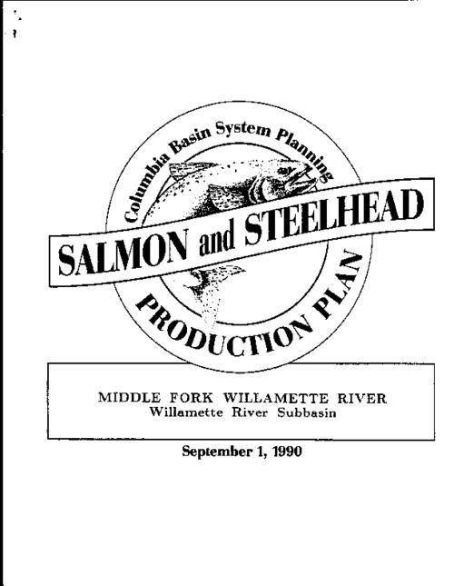 "This archived document is maintained by the Oregon State Library as part of the Oregon Documents Depository Program.  It is for informational purposes and may not be suitable for legal purposes., ""Funds provided by the Northwest Power Planning Council and the Agencies and Indian tribes of the Columbia Basin Fish & Wildlife Authority."", ""September 1, 1990."", ""These reports are final salmon and steelhead production plans for subbasins in the Columbia River Basin""--Cover letter, Includes bibliographical references (p. 121-126), Mode of access: Internet from the Oregon Government Publications Collection."