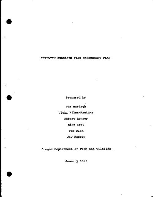 "This archived document is maintained by the Oregon State Library as part of the Oregon Documents Depository Program.  It is for informational purposes and may not be suitable for legal purposes., ""January 1992."", Includes bibliographical references (p. 51-53), Mode of access: Internet from the Oregon Government Publications Collection."